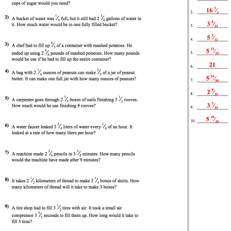 Unit Rates With Fractions Worksheet Answers Nms Self Paced Math