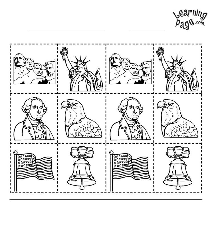 United States Symbols Worksheets For 2nd Grade 1087551