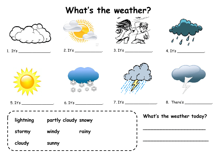 Weather Worksheets Esl Kindergarten