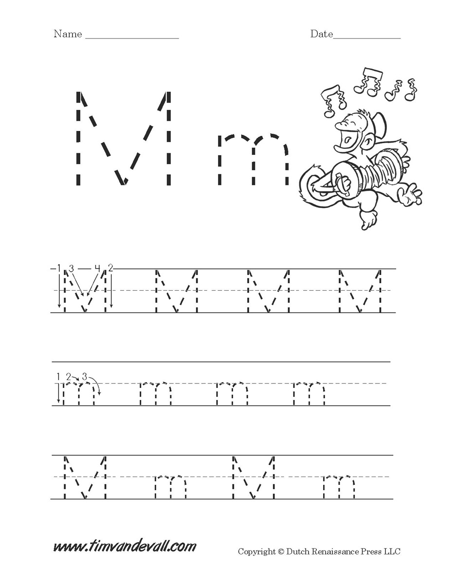 Worksheet Letter M Kindergarten 414173