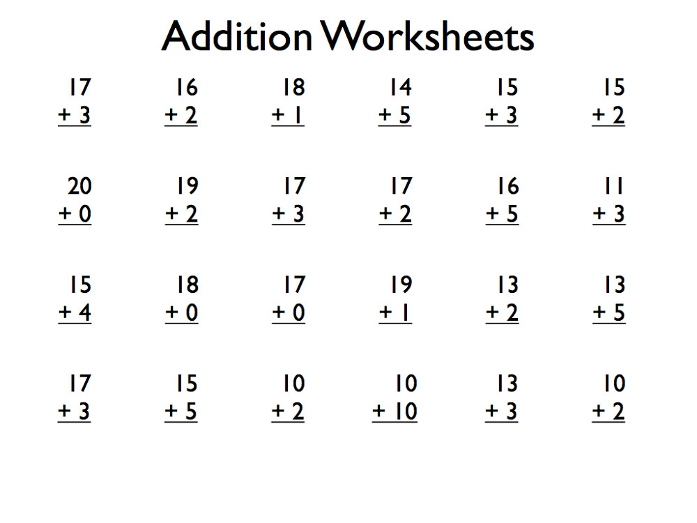 Worksheet Mathematics For Grade 1 909946