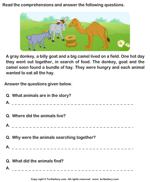 Worksheet On Comprehension For Grade 2 Image Collections