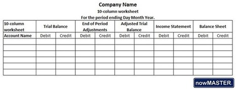 Worksheet Template Accounting  1082838
