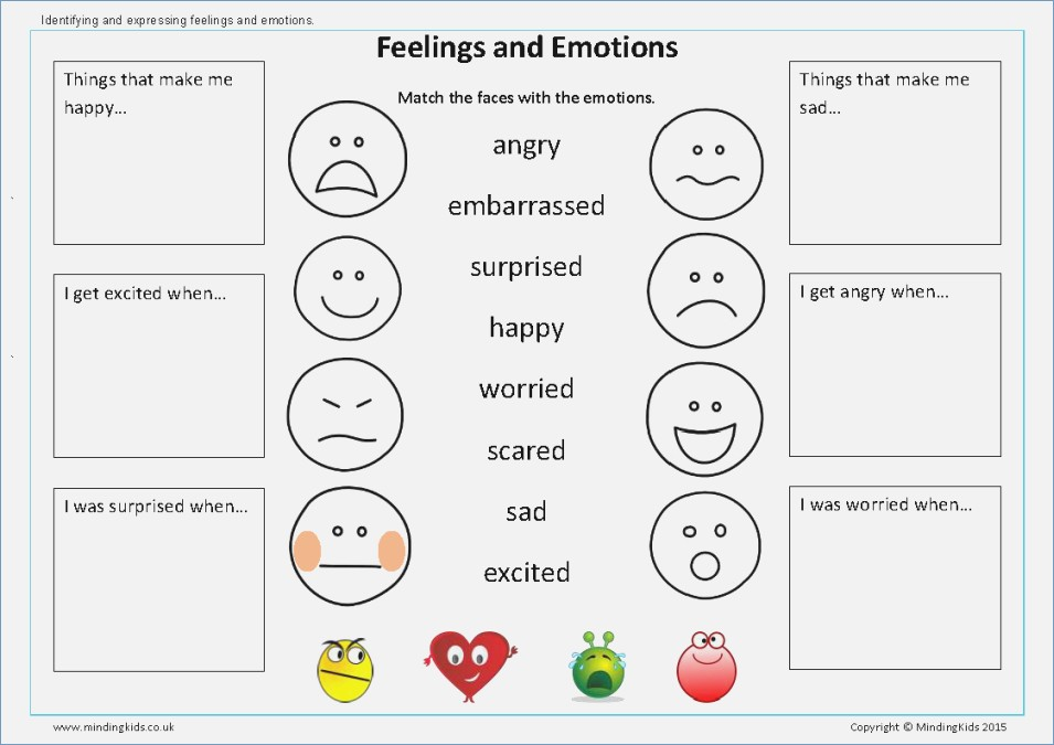 Worksheets For Preschoolers Emotions 1212897