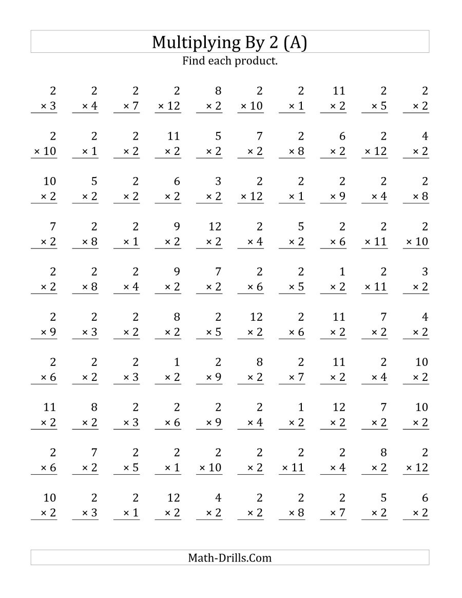 Worksheets Multiplying By 2 663447