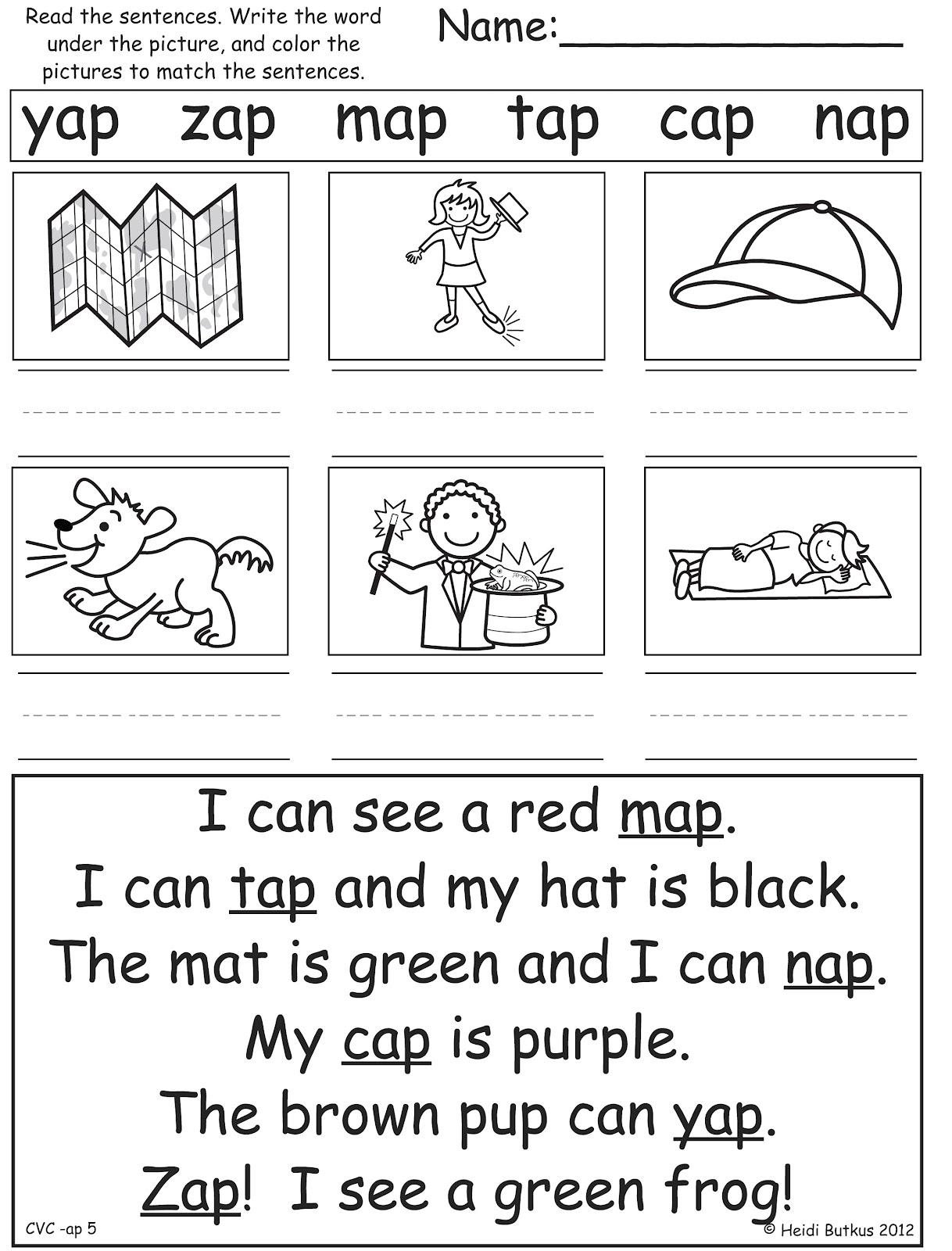 Writing Simple Sentences Worksheets Kindergarten 683038