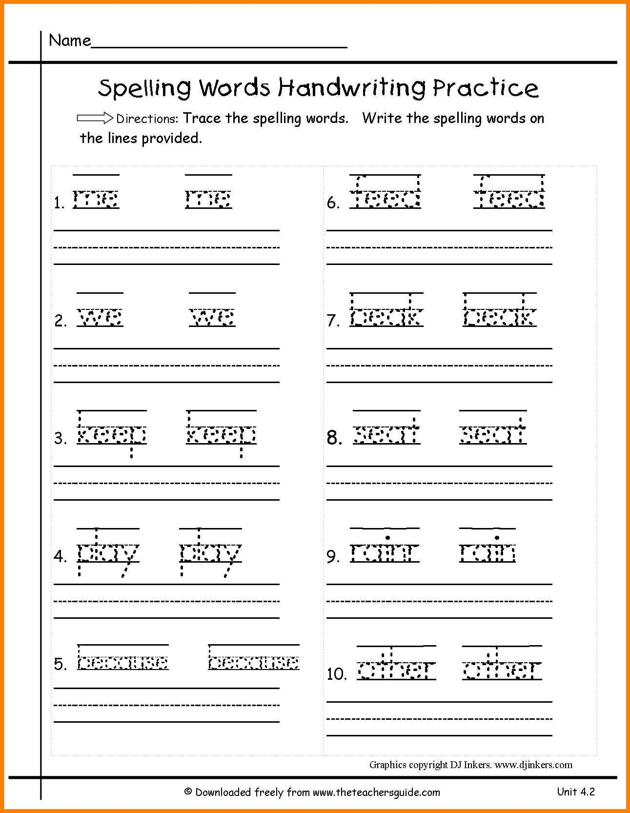 Writing Worksheets For First Grade Printable 744478
