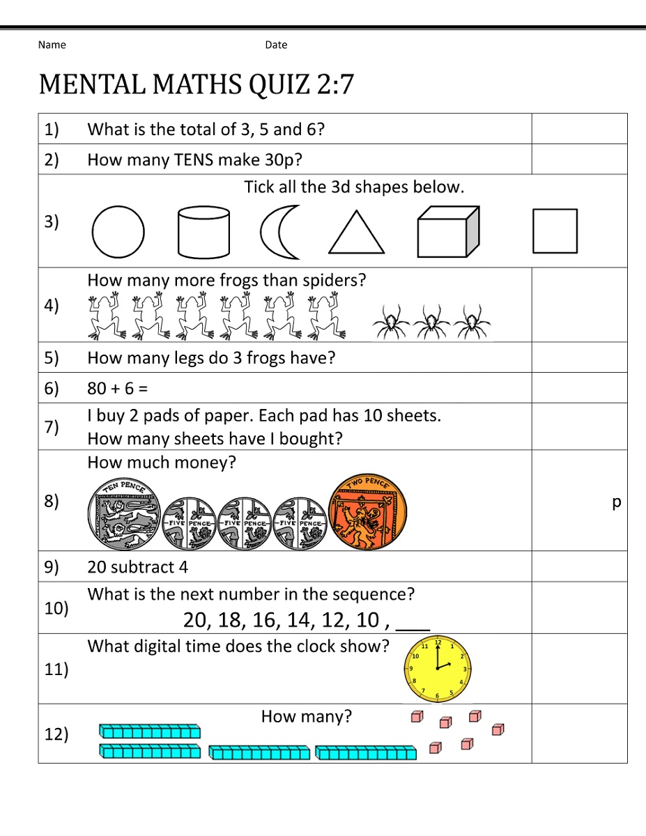 Year 7 Maths Worksheets Activity Shelter 11