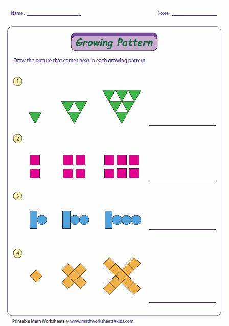 11 Best Of Growing Patterns Worksheets