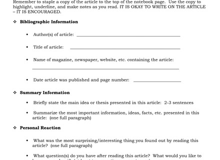 12 Best Images Of Reading Summary Worksheets Science, Article
