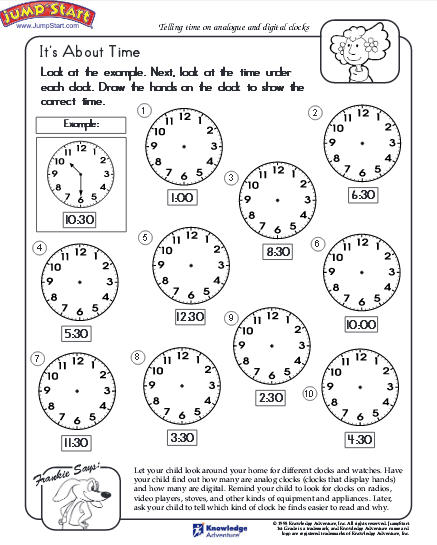 13+ How To Tell Time Worksheets