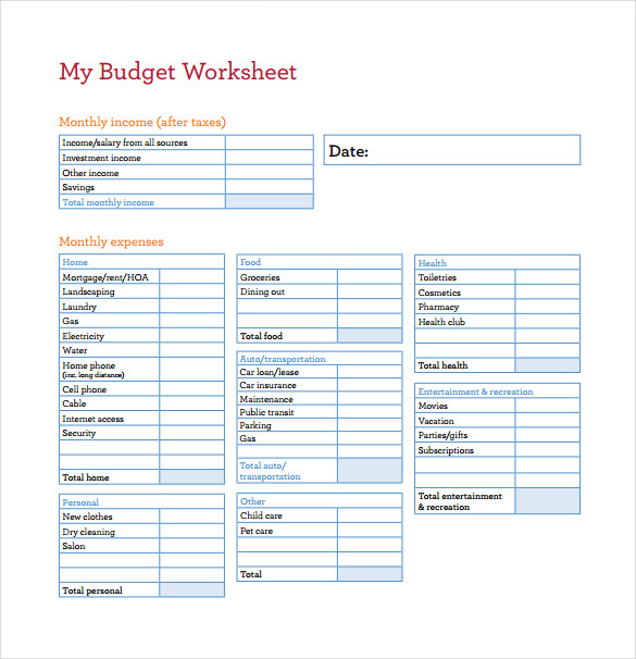 14+ Budget Spreadsheet Templates