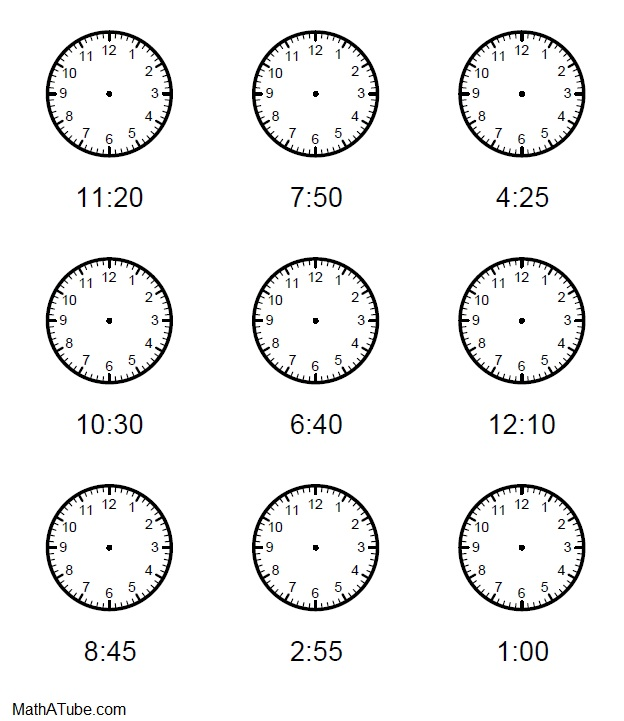28+ Collection Of Drawing Of A Clock Without Hands