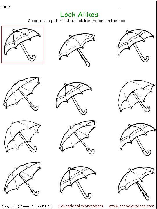 53 Visual Perceptual Worksheets, Visual Motor Visual Perception