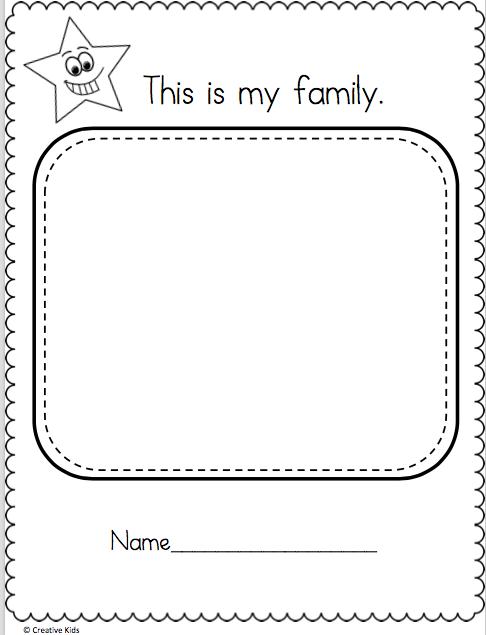 Draw My Family Worksheet