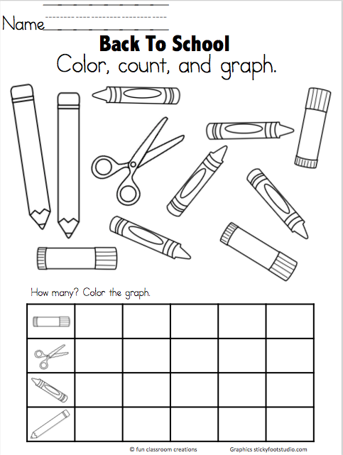Back To School Graph Freebie