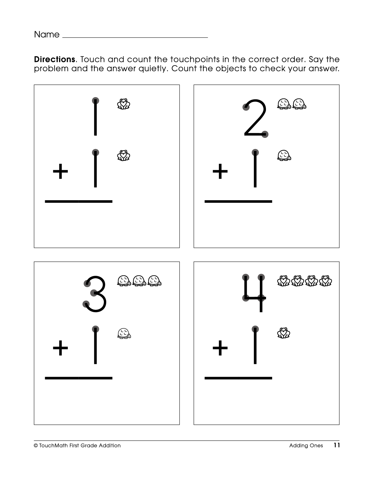 7 Best Images Of Free Touch Math Printable Worksheets Free