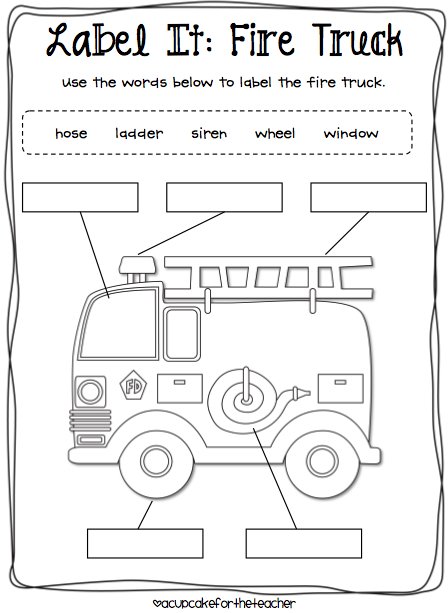 Label It  Fire Truck, Fire Safety, Firefighters, Community Helpers