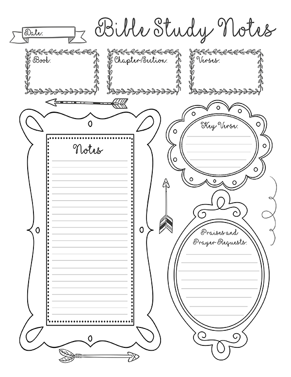 9 Best Images Of Printable Bible Study Notes Printable, Printable