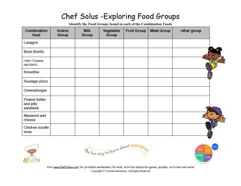 Free Educational Printables For Kids! Click To Print Nutrition