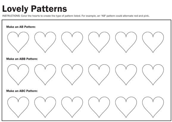 Ab Pattern Worksheets 809863