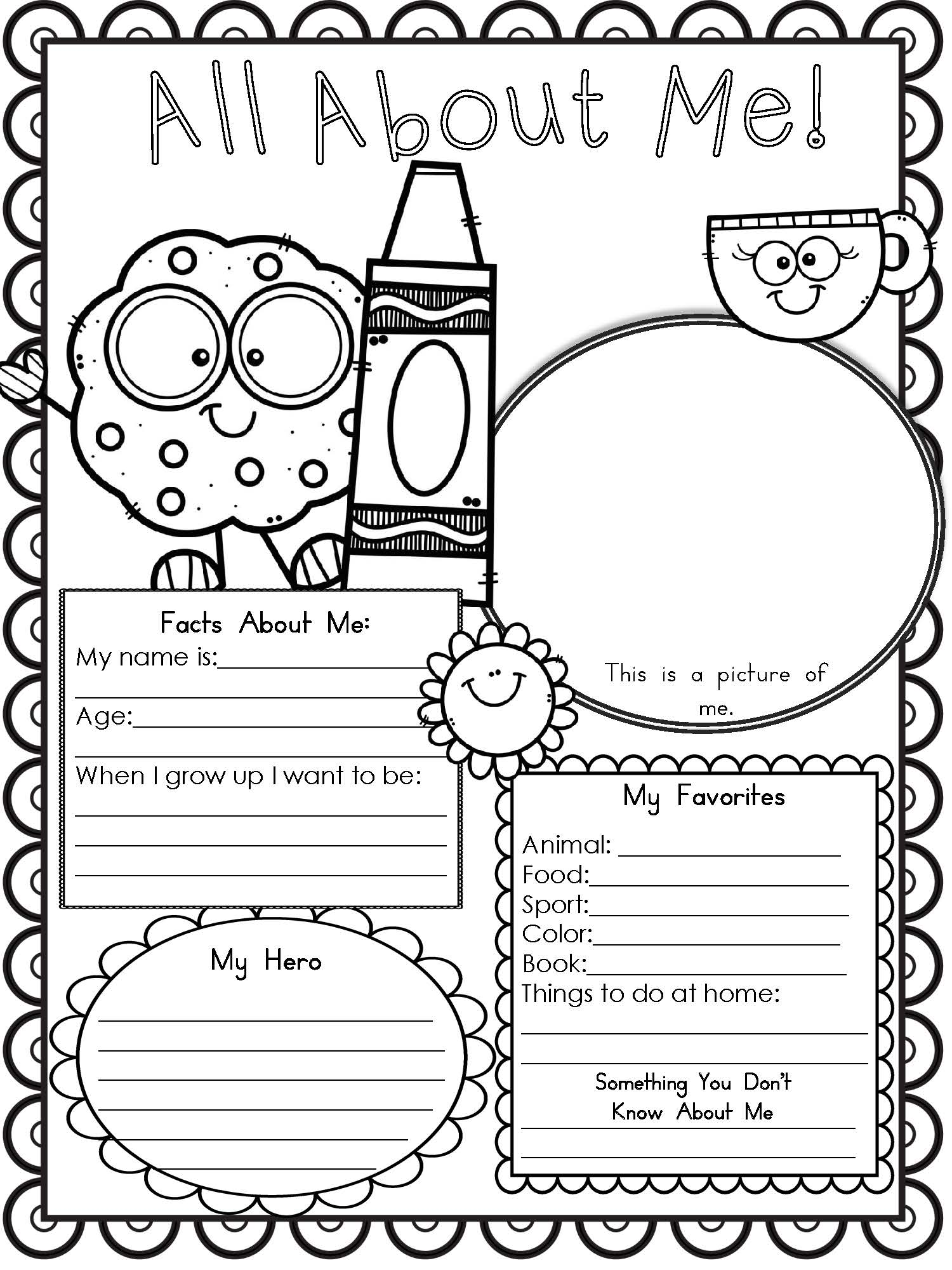 About Me Worksheets  293668