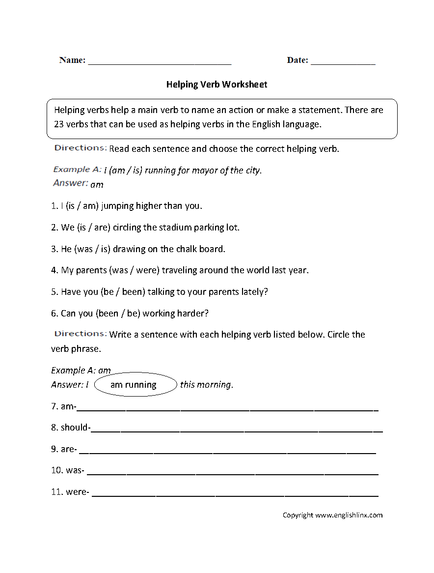 Action Linking Verbs Worksheets The Best Worksheets Image