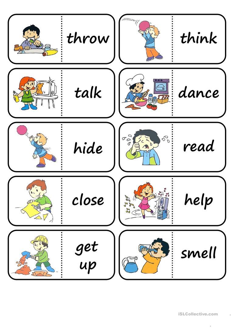 Action Words Worksheets For Preschool 1434222