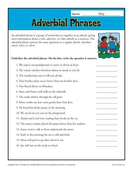 Adverbial Phrases In 2018