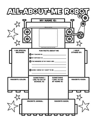 All About Me Printable Worksheets For Kindergarten