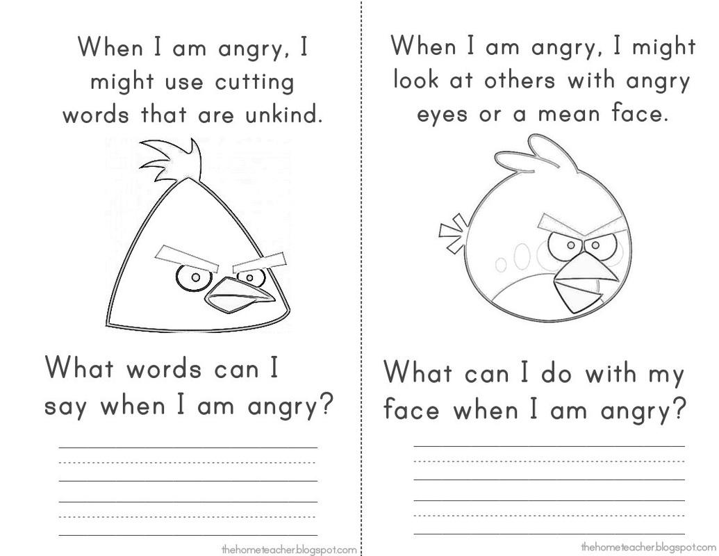 Angry Birds Worksheet Kindergarten  1334693