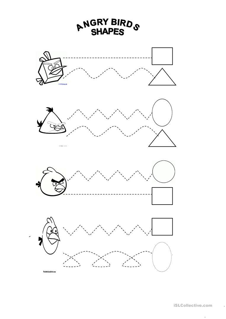 Angry Birds Worksheet Kindergarten  1334718