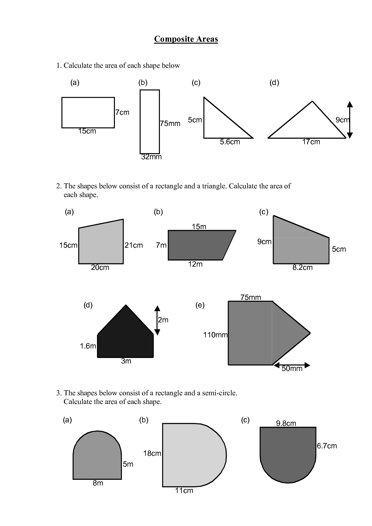 Area Of Polygons Worksheets Free Scope Work Template Christmas