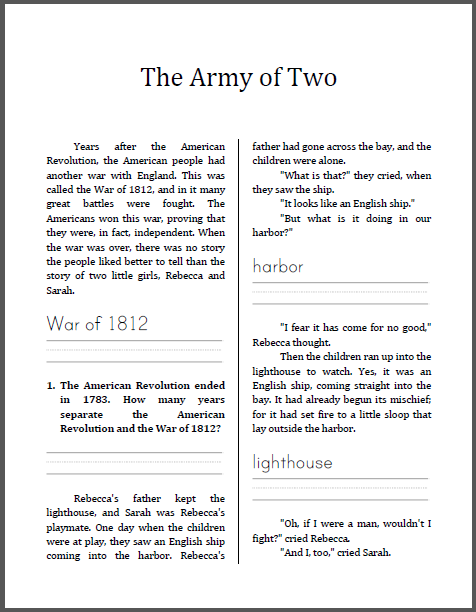 Army Of Two  War Of 1812