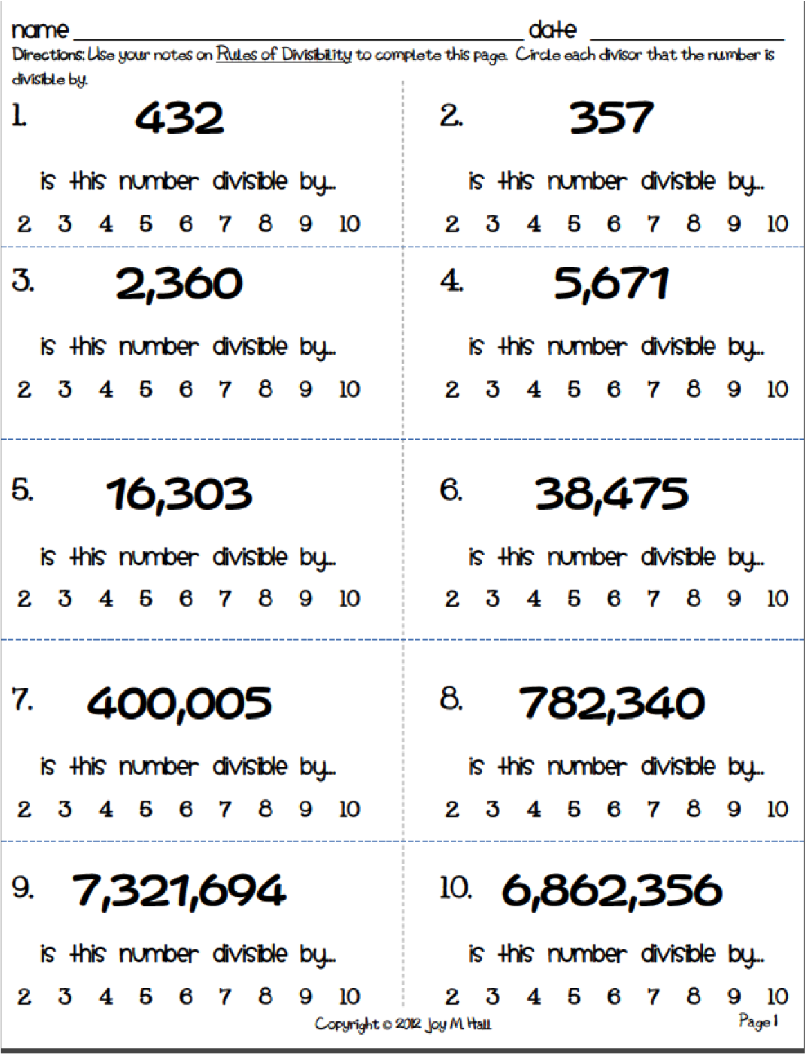 Awesome Collection Of Divisibility Test Worksheet Divisibility