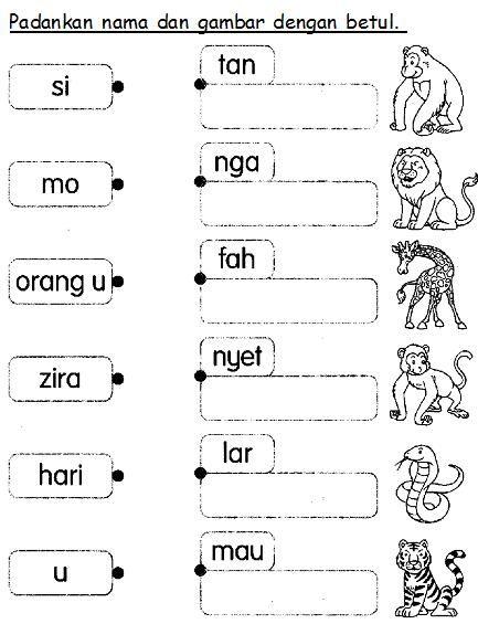 Bahasa Malaysia Prasekolah  Latihan Haiwan Liar