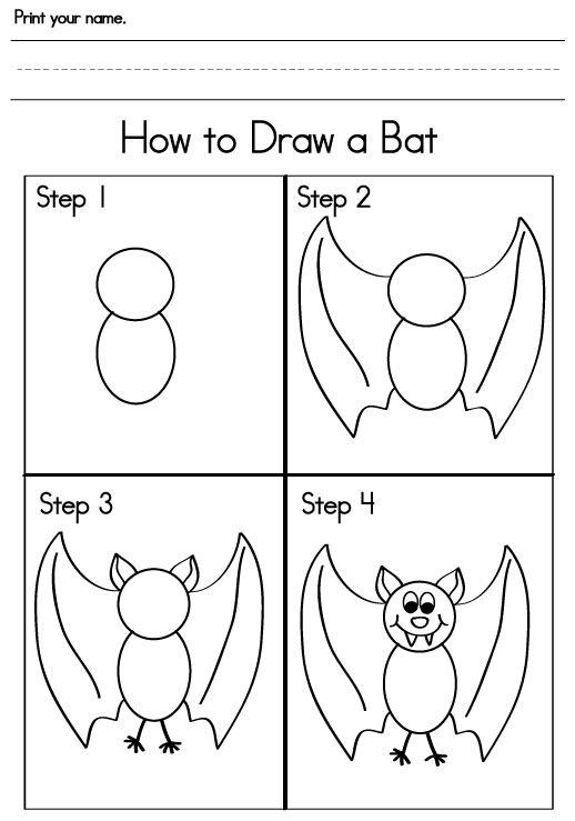 Bat Math Worksheets Kindergarten  799040