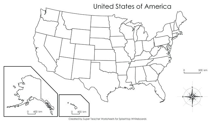Blank Printable Us Map Free My Blog States 50 Worksheets