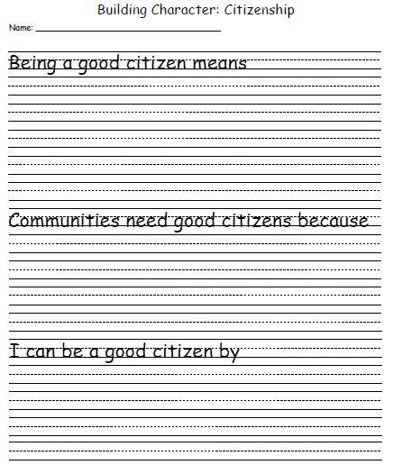 Character Development Template  Citizenship