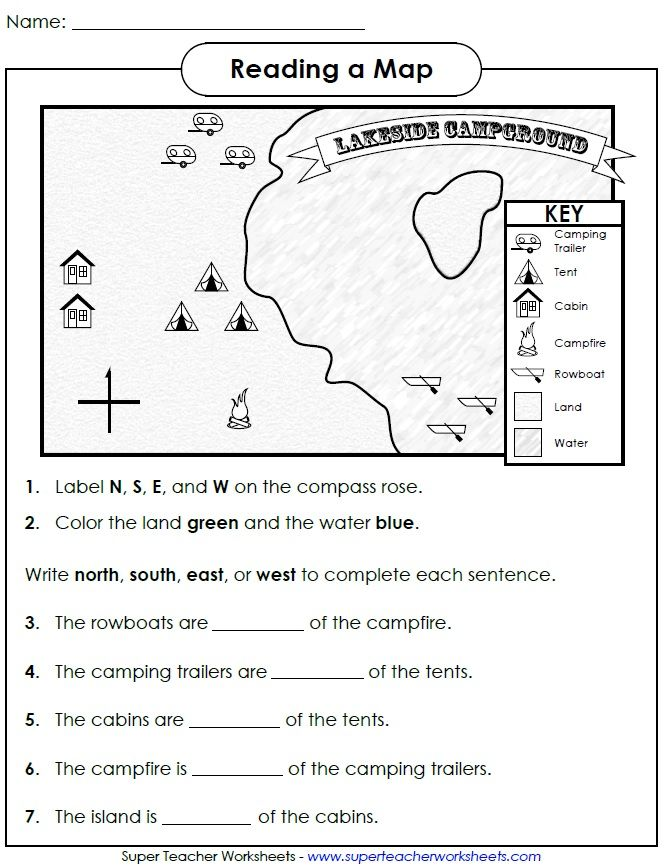 Check Out This Worksheet From Our Map Skills Page To Help, Map
