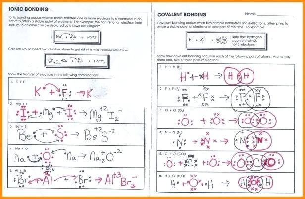 Chemical Bonds Ionic Bonds Worksheet Answers Plus Ionic And Bonds