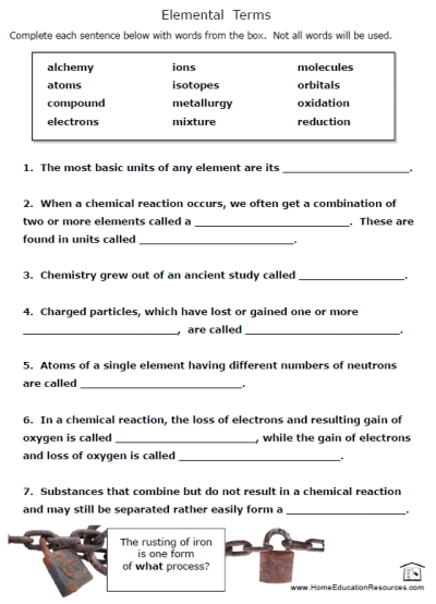 Chemical Elements Puzzles Fran 039;s Freebies, Elements Worksheet
