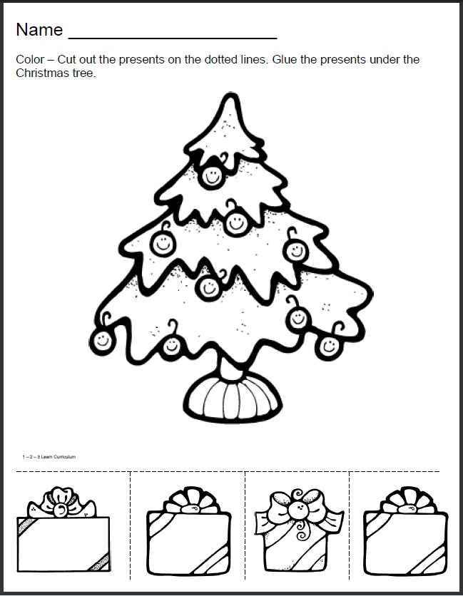Christmas Preschool Worksheet Activities 1352064