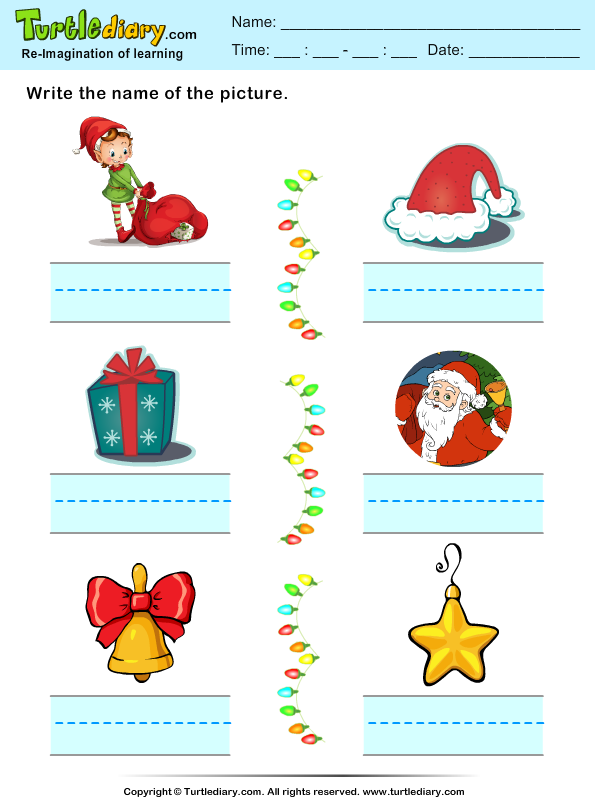 Christmas Spelling Words Worksheet