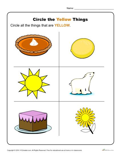 Circle The Yellow Things