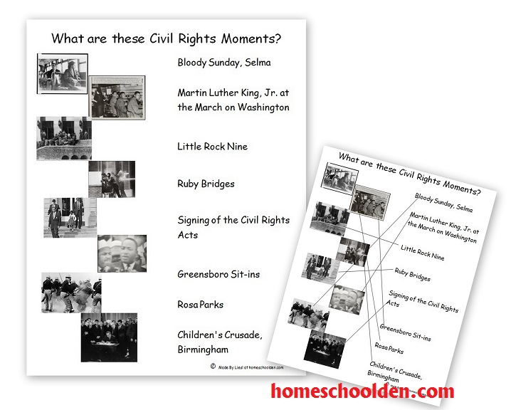 Key Events Of The Civil Rights Movement (free Packet)