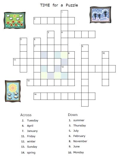 Classy Worksheets Weather Crossword In Weather Crossword Puzzle