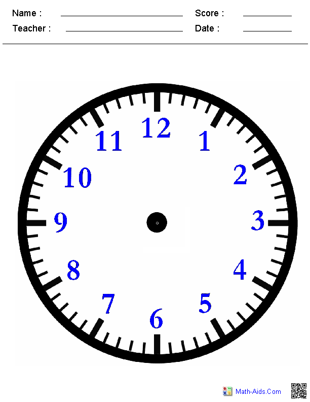 Clock Printables For Kindergarten 392406