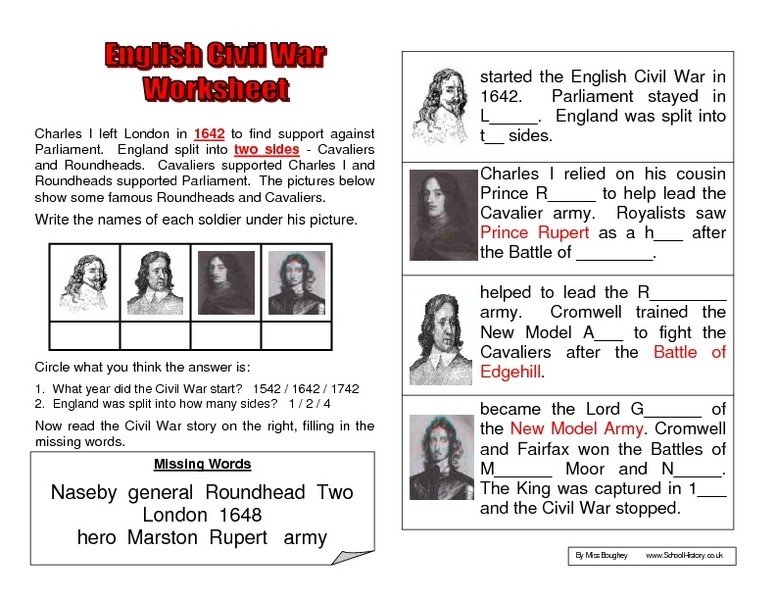 Collection Of Civil War Worksheets 5th Grade