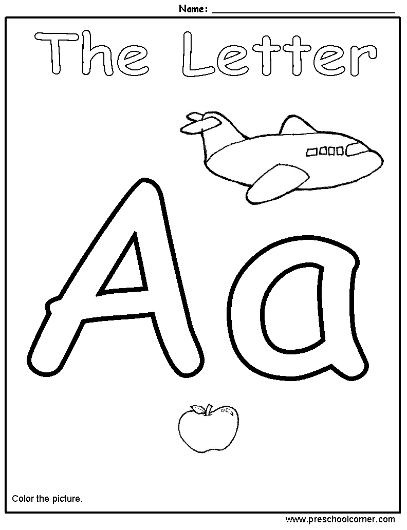 Collection Of Preschool Worksheets On Letters